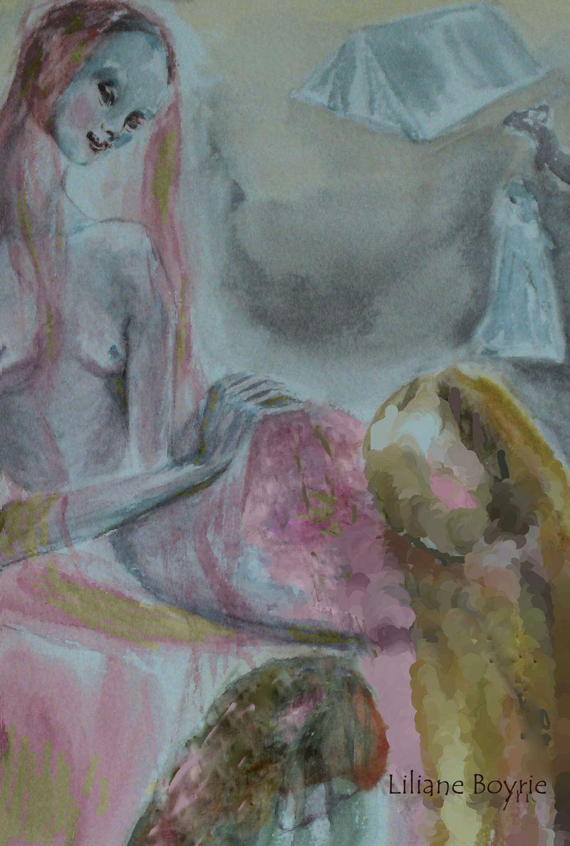 Jeunes femmes dans le harem