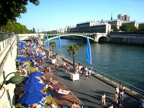 Détente sur les bords de la Seine