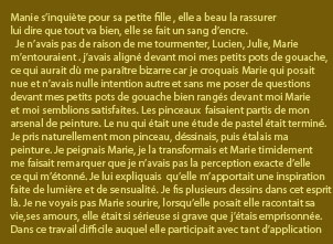 Texte Marie pensive