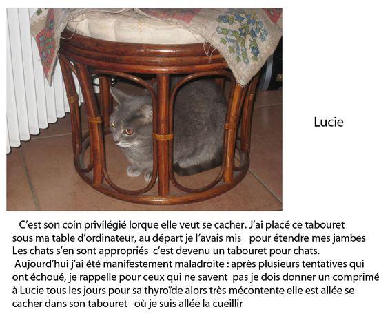 Lucie et son tabouret