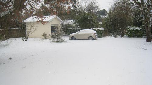 Pessac sous la neige