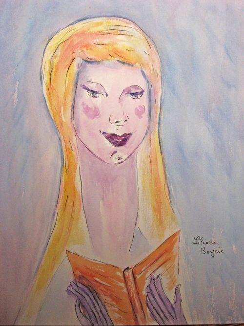 Jeune fille au livre