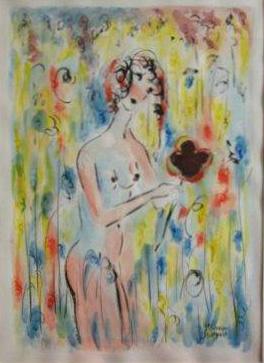 Dame à la fleur 2