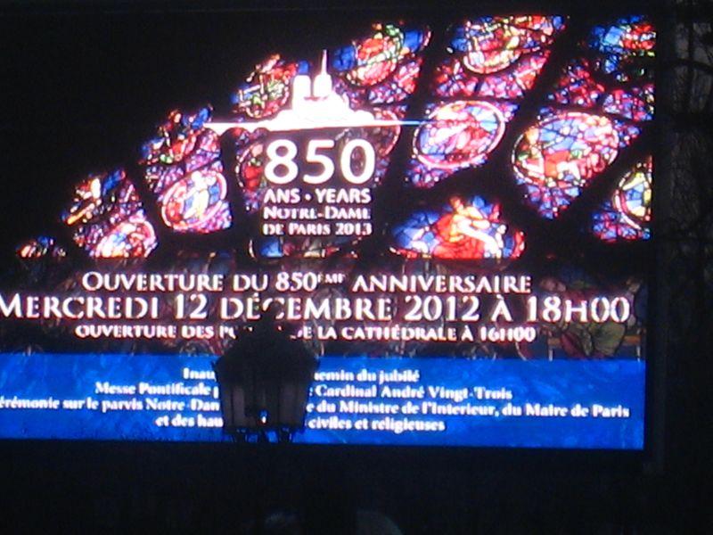 Anniversaire Notre Dame ,